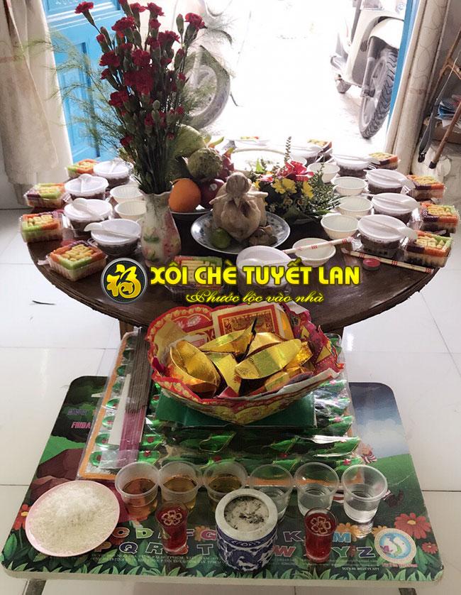 Xôi chè cúng tại nhà khách hàng Xôi Chè Tuyết Lan (Tp.HCM)